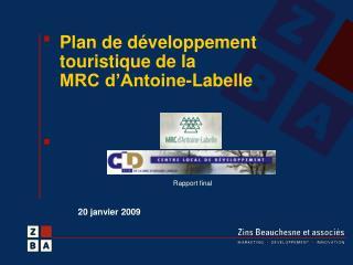 Plan de d veloppement touristique de la  MRC d Antoine-Labelle