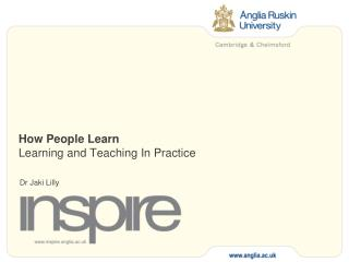 How People Learn Learning and Teaching In Practice