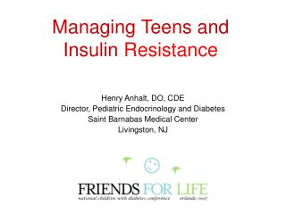 Managing Teens and Insulin Resistance