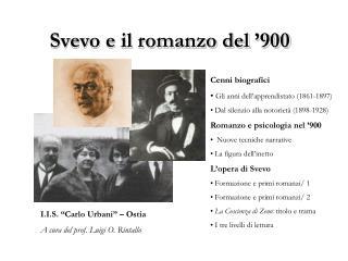 Svevo e il romanzo del  900