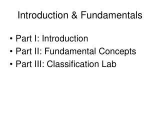 Introduction  Fundamentals