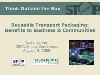 Reusable Packaging: Defined