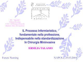 IL Processo Infermieristico, fondamentale nella professione,  Indispensabile nella standardizzazione In Chirurgia Mininv