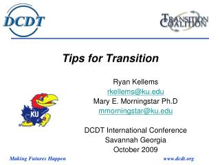 Tips for Transition