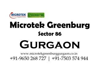 Greenburg Sector 86 Gurgaon Call 9650268727