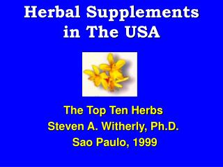 Herbal Supplements in The USA