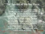 The Salmon of the Nez Perce