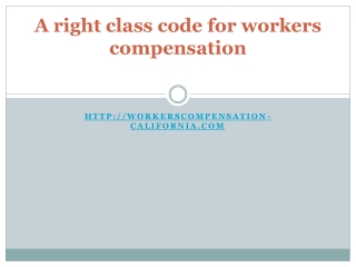 A right class code for workers compensation
