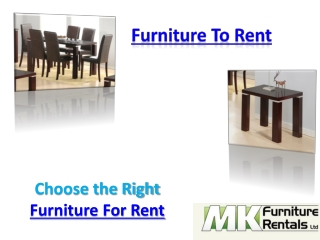 Furniture To Rent