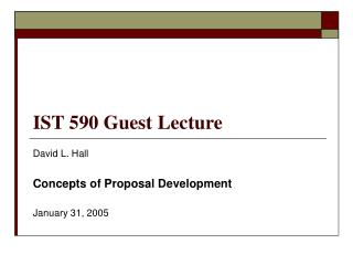 IST 590 Guest Lecture