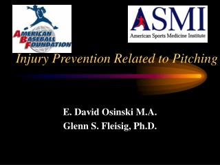 Injury Prevention Related to Pitching