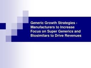 generic growth strategies