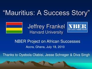 Mauritius: A Success Story