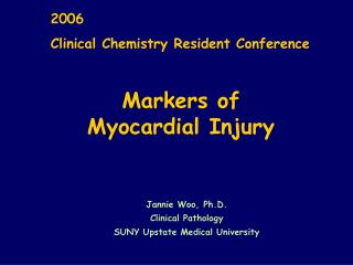 cardiac markers for ischemic injury