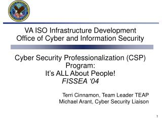 VA ISO Infrastructure Development Office of Cyber and ...