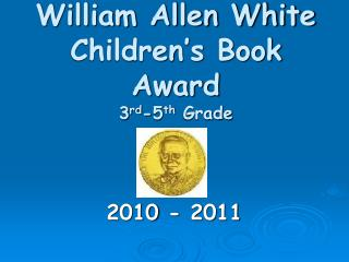 William Allen White  Children s Book Award 3rd-5th Grade