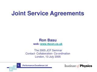 Joint Service Agreements Ron Basunb