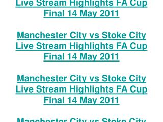 manchester city vs stoke city live stream highlights fa cup