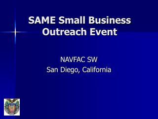 SAME Small Business Outreach Event