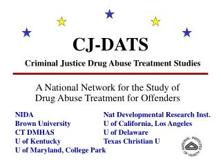 CJ-DATS Criminal Justice Drug Abuse Treatment Studies