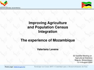 Improving Agriculture and Population Census Integration The ...