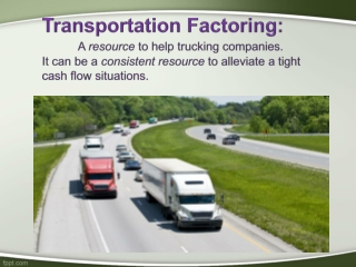Transportation factoring