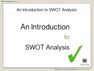 An Introduction To SWOT Analysis | Essay Writing Help