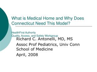 What is Medical Home and Why Does Connecticut Need This Model ...