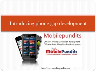 Introducing Phonegap mobile apps development
