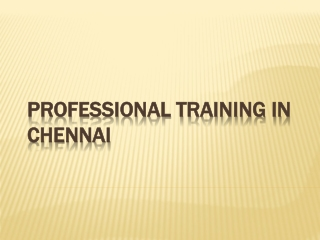 Professional training in chennai