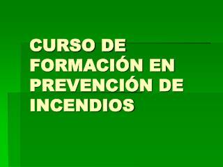 CURSO DE FORMACI