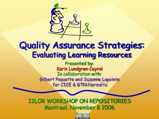 Quality Assurance Strategies: Evaluating Learning Resources