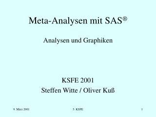 Meta-Analysen mit SAS