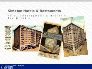 Kimpton Hotels  Restaurants