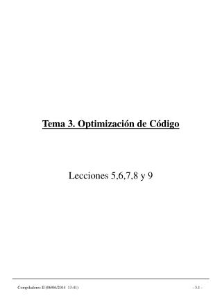 Tema 3. Optimizaci n de C digo