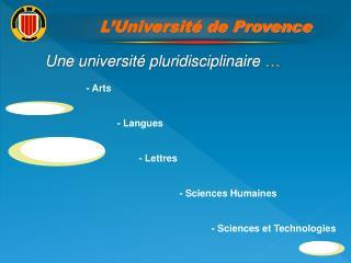 Les missions de l universit :