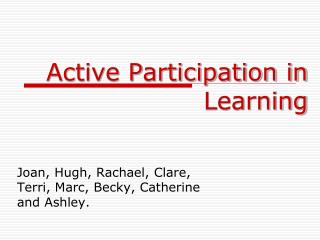 Active Participation in Learning