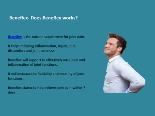 Beneflex best product for joint pain relief