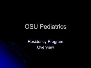 OSU Pediatrics