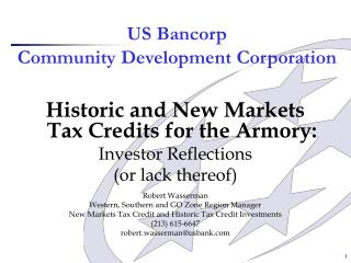 US Bancorp  Community Development Corporation