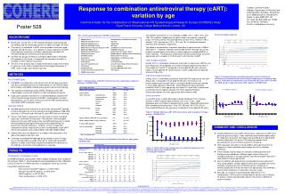 Response to combination antiretroviral therapy cART: variation by age