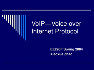 VoIP-Voice over Internet Protocol.ppt