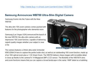 samsung announces wb700 ultra-slim digital camera