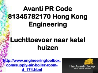 Avanti PR Code 81345782170 Hong Kong Engineering: Luchttoevo