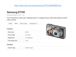 samsung st700 features