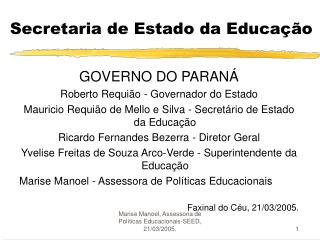 Secretaria de Estado da Educa