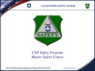 Civil Air Patrol Safety Officer Specialty Track Master Rating Course