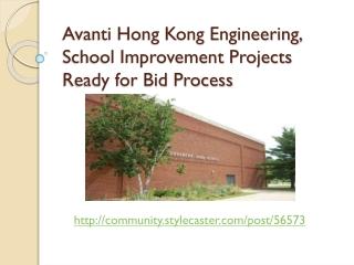 Avanti Hong Kong Engineering - School Improvement Projects R