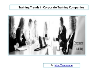 Corporate Training Companies Training Trends