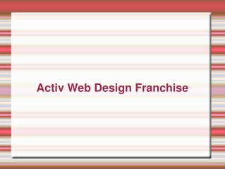 Activ Franchise | Activ Web Design Franchise